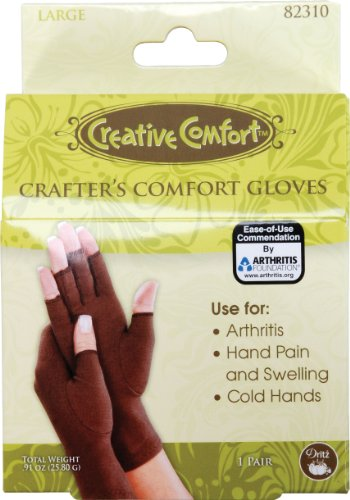 (Dritz Crafters Comfort Glove-Large)