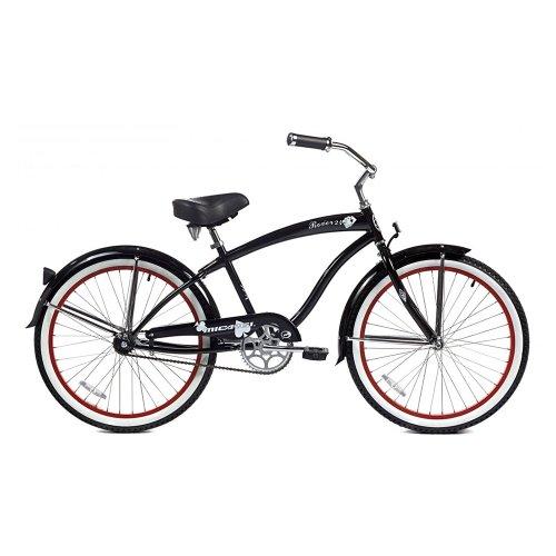 Micargi Rover Beach Cruiser Bike, Black, 24-Inch