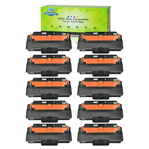 NineLeaf Compatible Toner Cartridge Replacement for Samsung 115 115L MLT-D115L High Yield to Use with Xpress SL-M2830DW SL-M2880FW SL-M2820DW SL-M2870FW SL-M2620 SL-M2670 Printer (Black, 10 Pack)