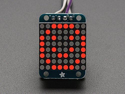 Adafruit Mini 8x8 LED Matrix w/I2C Backpack - Red [ADA870]