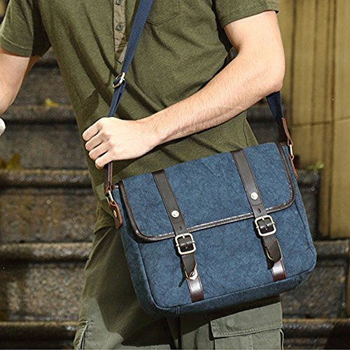 Lona Opcional Bolsa Maletín Mochila 33 Green Hombro 28 Ordenador Bolso De Azul 9cm color Los Hombres Gljjqmy Colgado Oficial qwE4pRx