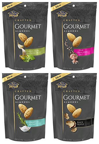 - Blue Diamond Gourmet Almond Nut Variety Pack - Bundle of 4 Flavors 5 oz Bags, 5 oz