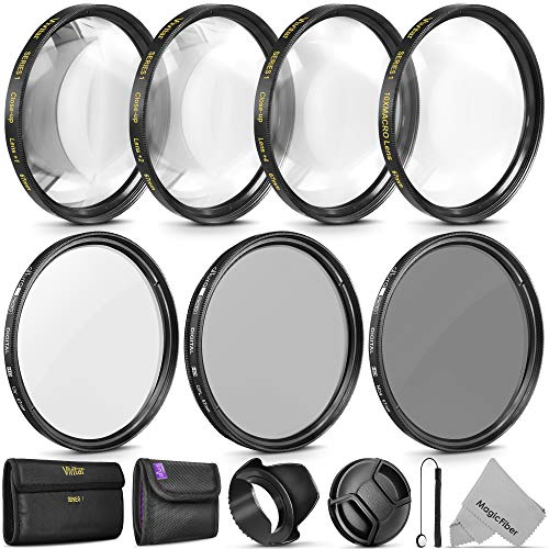 67MM Altura Photo Professional UV CPL ND4 Lens Filter and Vivitar Close-Up Macro Accessory Kit for Lenses with a 67MM Filter Size from Goja