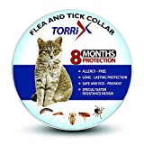 TORRIX Cats Flea and Tick Collar – 8-Month Flea Prevention Cat Collar – Adjustable and Waterproof Cat Flea and Tick Control