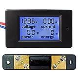 uniquegoods DC 6.5V -100v 50A Large LCD Display Digital Combo Panel Meter Current Voltage Power Energy Meter Multimeter Ammeter Voltmeter with 50A Shunt