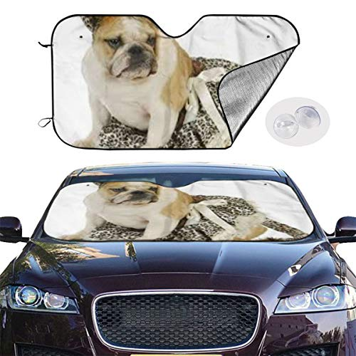 Dog Dressed As A Cat (UYFXz Dogs Dressed Up As Cats Car Sunshade for Maximum UV Protection and Heat Reflector,Keeping Vehicle Cool,Sunshade Against Sunlight¨C Universal)