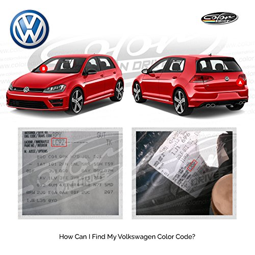 Volkswagen Polar White - L90A Touch Up Paint for Golf, Passat, GTI, Polo, Jetta, TIGUAN, Beetle and All Models Paint Scrath and Chips Repair Kit - OEM Quality, Exact Color Match - Pro Pack by Color N Drive (Image #1)