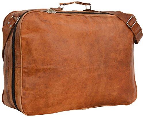 """Gusti Leder nature """"Alexander"""" Genuine Leather Travel Luggage Holdall Weekend Overnight Shoulder Vintage Briefcase Bag Unisex Brown R7"""