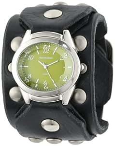 Red Monkey Designs Men's RM788G-JA1 Sin City Black Leather Green Dial Watch