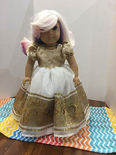 y Prom Dress Fits American girl Doll, Our Generation, My Life As Clothes Handmade Outfit ()