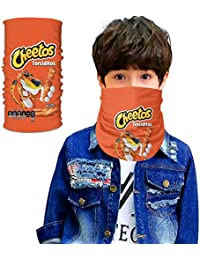 HAOLIJIA Seamless Face Cover/Headband, Scarf,Multi-Functional Full-Coverage Tube Bandanas For Boy/Girl Cheetos-8-One Size