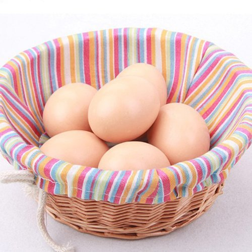EQLEF/® Nest 10pcs artificiale Uovo falso alimentare Dummy Decorazione per la Casa