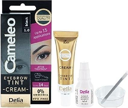 Tinte para cejas, color negro, 1.0: Amazon.es: Belleza