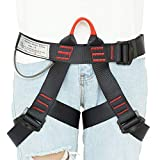 LAPARD Climbing Harness, Protect Waist Half Body Safety Belt for High Altitude Work Tree Rock Climbing Rappelling Mountaineering Fire Self-Rescuing Caving Canyoneering Outward Bound Woman Child Guard