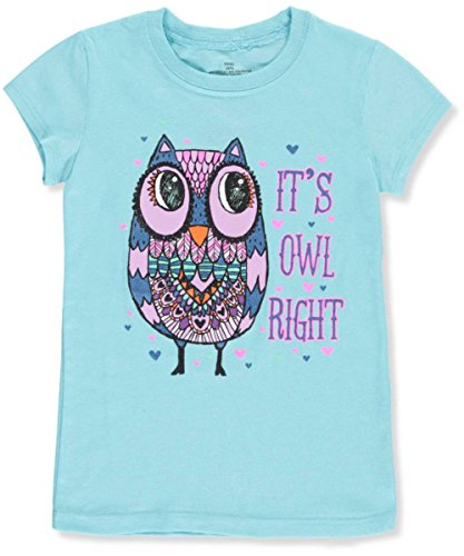 Famous Brand Big Girls' T-Shirt - Turquoise, - Girl Famous Brands