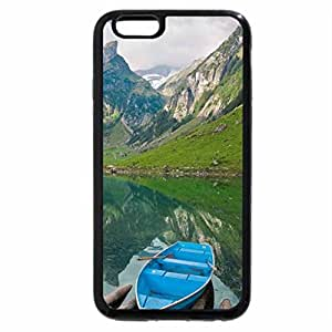 iPhone 6S Plus Case, iPhone 6 Plus Case, Boat in Mountain Valley Lake