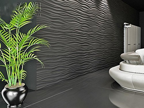 Wave Plastic Molds for 3D Panels Plaster wall stone Form 3D decor panels