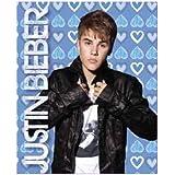 Blue Hearts Justin Bieber Throw Blanket - Justin Bieber Throw Fleece