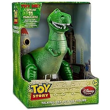 Figura de Disney Pixar Toy Story de lujo Talking Rex de 30 cm  Amazon.es   Juguetes y juegos 98041e8c782