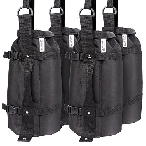 Leader Accessories 4Pcs/Pack Weight Bags Canopy Weights Sand Bags 30lbs/pc Upgraded Huge...
