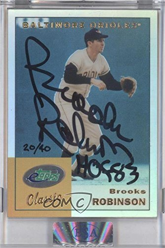 Brooks Robinson Manufacturer ENCASED Uncirculated #20/40 (Baseball Card) 2002 eTopps Classic - [Base] - eCardAutographs Certified Autograph [Autographed] #ETC13