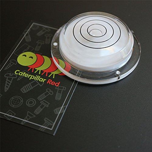 3' Round Bullseye - Flanged Large Round Bulls Eye Bubble Level - Tool Clock Hobby Turntable Camera Caravan, Clear Liquid