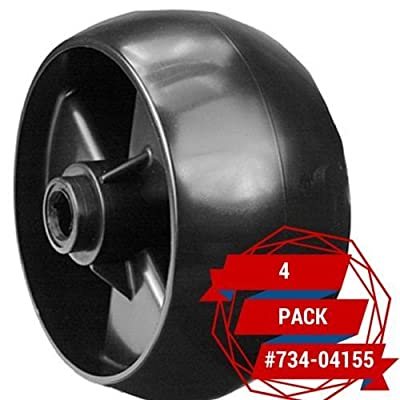 4 Pack Deck Wheels Fits Cub Cadet MTD Toro 734-04155 112-0677 (12648) .#GH45843 3468-T34562FD796190 : Garden & Outdoor