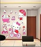Imagen pegatinas de pared de Hello Kitty pegatinas de pared de Hello Kitty para niños decoración de la pared wshk2