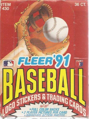 1991 Fleer Baseball Cards Box