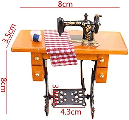 """TRADITIONS MINIATURES 3//4/"""" RESIN SEWING MACHINE FREE US SHIPPING!"""