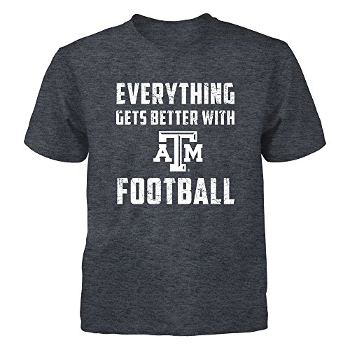 FanPrint Texas A&M Aggies - Everything - Gildan Youth T-Shirt - Officially Licensed Fashion Sports Apparel