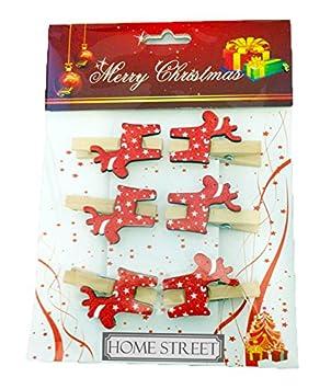 Holzklammern Klammern Weihnachtsdeko Weihnachtskarten