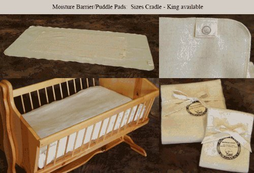 Holy Lamb Organics Wool Moisture Barrier Protector Pad- Cradle and Bassinet Size