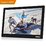 MRQ 14.1 inch 1080P HD Digital Photo Frame with Hu-Motion Sensor, 16:10 High Resolution LCD, E-Book, Clock, Calendar, Alarm Clock, Multi-Language (14.1)