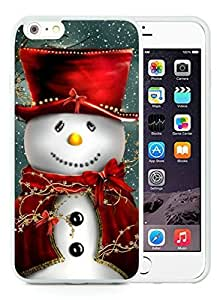Customized iPhone 6 Plus Case,Christmas snowman White iPhone 6 Plus 5.5 TPU Case 14