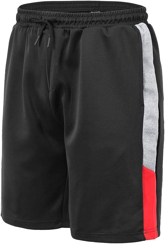 JINSHI Mens Shorts Athletic Sports Jogger Workout Shorts Drawstring