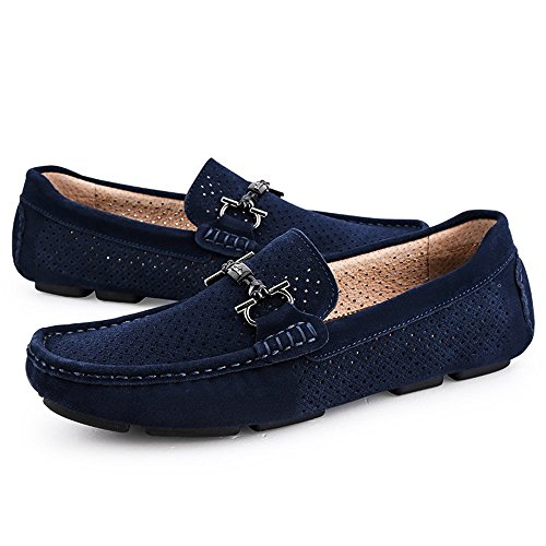 Cricket Scarpe da con Guida Mocassini Royalblue Fondo per Mocassini e Antiscivolo Morbido Hollow da Uomo 7HvqAd
