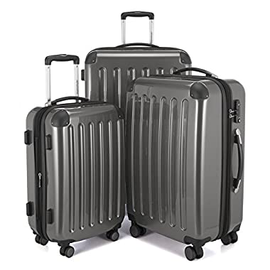 "HAUPTSTADTKOFFER - Spree - Set of 3 Hard-side Luggages Suitcase Hardside Spinner Trolley(20"", 24"" & 28"") TSA (A-Titan)"