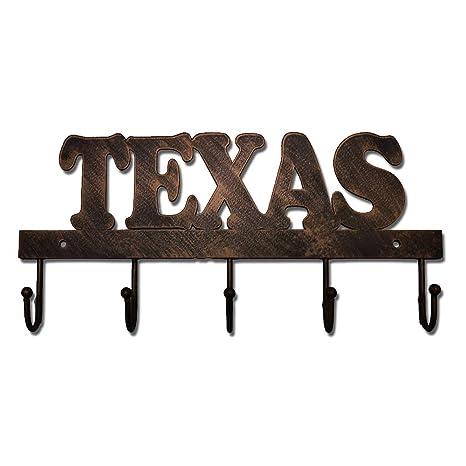 Amazon.com: Ganchos de metal para llaves, diseño de Texas ...