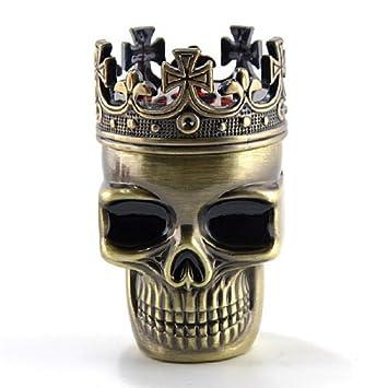 Newest Fab detallada Crowned King diseño de calavera de esqueleto ...