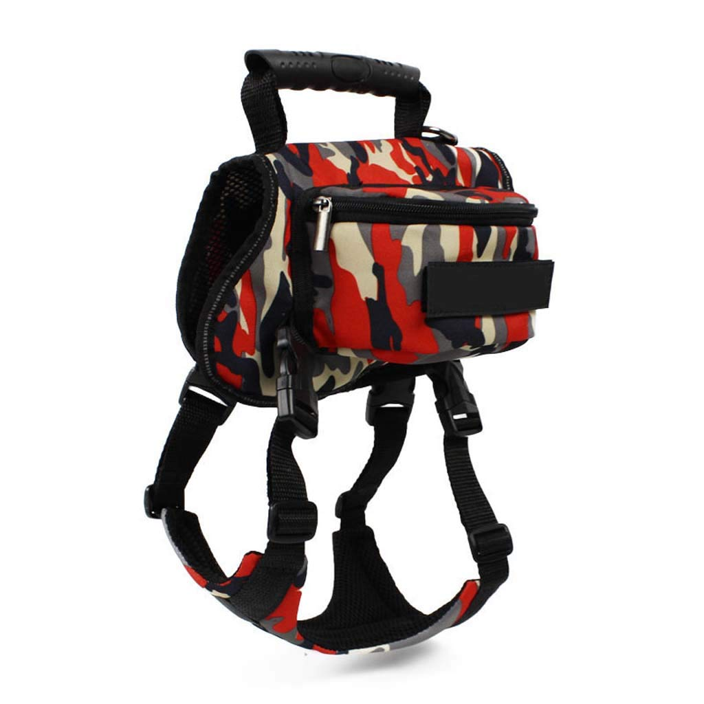 B Dog Saddle bag impermeabile Tactical Dog Harness Backpack Pet Chest Strap Durable for Traveling Hiking Camping, Medium Size, B