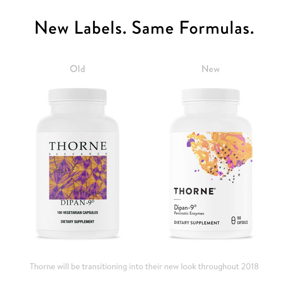 Thorne Research - Dipan-9 - Pancreatic Enzymes for Digestive Support - 180 Capsules by Thorne Research (Image #3)