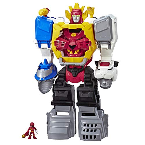PLAYSKOOL HEROES Power Rangers Power Morphin Megazord, 2-in-1 Converting Playset, 2-Foot Megazord with Lights & Sounds, Kids Ages 3 & Up (Fisher Price Imaginext Power Rangers Morphin Megazord)
