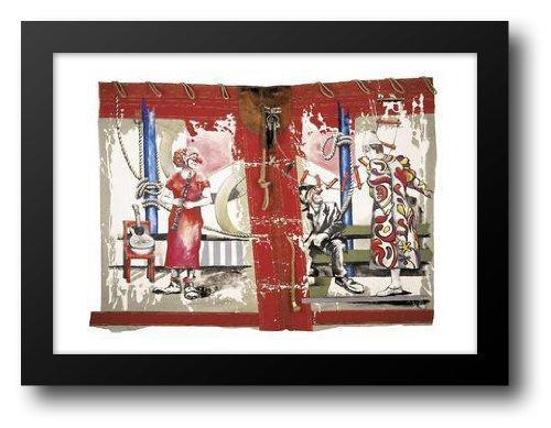 Clown Trio 32x24 Framed Art Print by Knie, Rolf