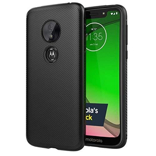 Moto G7 Play Case, Motorola G7 Play Case Slinco Flexible Soft TPU Slim Light Rugged Durable Armor Snugly Fit Case for Motorola Moto G7 Play (Black)
