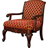 Coaster Traditional Upholstered Accent Chair with Armrest