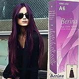 BERINA A6 PERMANENT HAIR DYE COLOR CREAM PURPLE CRAZY FASHIONS PUNK STYLE