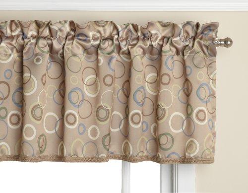 Sun Zero Celestia Circular Energy Efficient Curtain Valance, 54″ x 18″, Taupe Brown