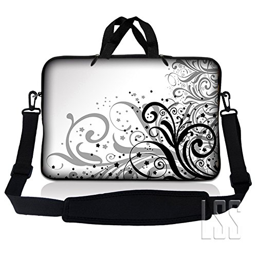 LSS 13.3 inch Laptop Sleeve Bag Carrying Case Pouch w/ Handle & Adjustable Shoulder Strap for 13.3