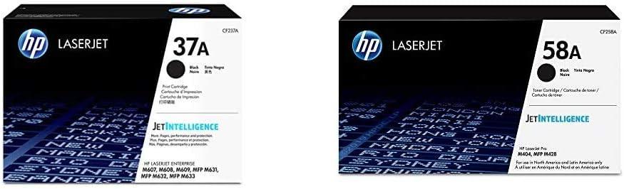 HP 37A | CF237A | Toner Cartridge | Black & 58A | CF258A | Toner Cartridge | Black